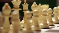 White horse move during chess match Stock Footage
