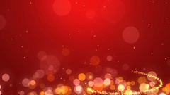 Red background with spiral glitter Christmas tree Stock Footage