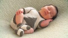 Sleeping Newborn Baby. 4k Stock Footage
