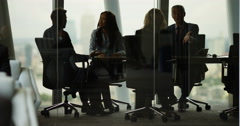 4k, Shot of a group of businesspeople in a meeting. Slow motion. Arkistovideo