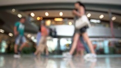 Shopping mall blur background Stock Footage