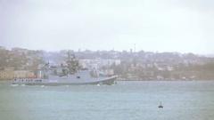 """""""Admiral Grigorovich"""" - multipurpose frigate project far sea zone  Stock Footage"""