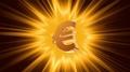 Euro sign on radiant light background, success, large income, jackpot winner 4k or 4k+ Resolution