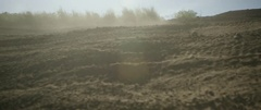 Motorbike tire tracks on the racing track on a sunny day Stock Footage