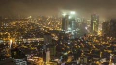 Makati: City with Clouds during Night. Stock Footage
