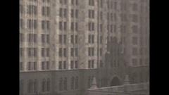 Vintage 16mm film, 1930, Detroit Fisher Building Stock Footage