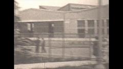 Vintage 16mm film, 1930, Detroit airport hangars Arkistovideo