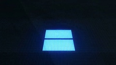 Upward Blue Arrow Uploading Files on Computer Screen Futuristic Modern Interf Stock Footage