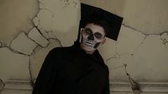 Student zombie indoor Stock Footage