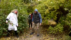 Zombies are coming through the woods Stock Footage