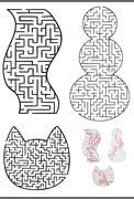 Maze diagrams set Stock Illustration