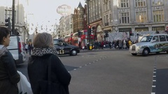 Oxford Street in London in slow motion Stock Footage