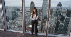 4k, Portrait of a confident Asian businesswoman standing in an office Stock Footage