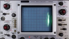ELECTRONIC DIAGNOSTIC EQUIPMENT - OSCILLOSCOPE / LOOP-ABLE Stock Footage