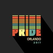 Gay Pride 2017 poster rainbow spectrum flag Stock Illustration
