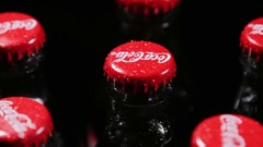 Coca Cola bottle video rotation Stock Footage