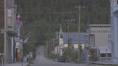 A street in a small western town. Stock Footage