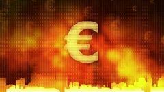 Euro sign rotating. World economy, money circulation, business, stock market Stock Footage