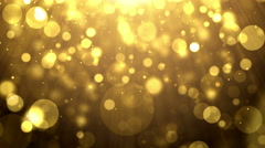 Particles gold glitter bokeh award dust abstract background loop 17 Stock Footage