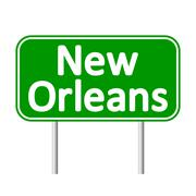 New Orleans green road sign. Piirros