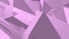 Abstract Pink Angular Polygons Retro Futuristic 3D Motion Background VJ Loop 1 Stock Footage