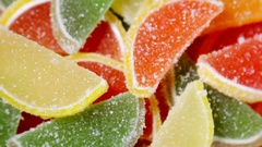 Different colors jujube sugar Stock Footage