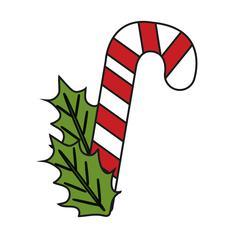 Isolated candy of Christmas season design Stock Illustration
