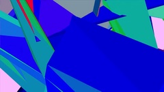 Abstract Colorful Dark Polygons Retro Futuristic 3D Motion Background Loop. Stock Footage