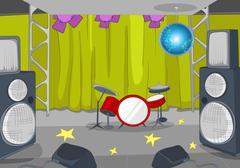 Cartoon background of nightclub interior Stock Illustration