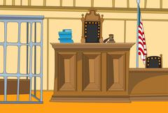 Cartoon background of courtroom Piirros