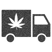 Cannabis Delivery Van Icon Rubber Stamp Piirros