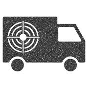 Shooting Gallery Truck Icon Rubber Stamp Stock Illustration
