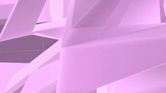 Luminous Abstract Pink Polygons Retro Futuristic 3D Motion Background VJ Loop. Stock Footage