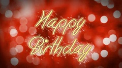 Happy Birthday message on romantic background, creative greeting, congratulation Stock Footage