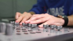 Sound Designer Mixing On The Sound Control Stock Footage