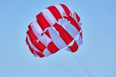 Canopy of a Parachute Stock Photos