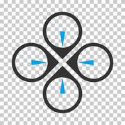 Fly Drone Vector Icon Stock Illustration
