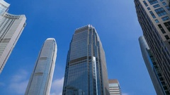 4k Time-lapse of Building in Hong Kong city, China Stock Footage