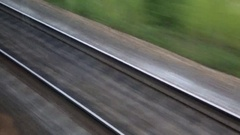The journey by rail Stock Footage