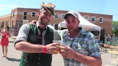 Oktoberfest Cheers and Beers! Stock Footage