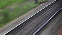Shot from the window of a moving train Stock Footage