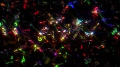 Colorful Music Notes Background Stock Footage