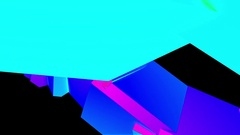 Abstract Colorful Angular Polygons Retro Futuristic 3D Motion Background Loop. Stock Footage