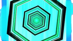 Hexxa visuals tunnel with rings coming on the beat Stock Footage