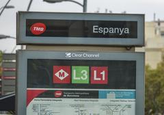 Placa de Espanya Metro station in Barcelona Kuvituskuvat