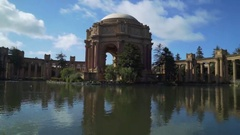 Palace of Fine Arts San Francisco Landmark Blue Skys Water Stock Footage