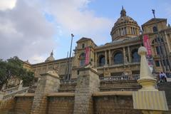 MNAC museum at National Palace Barcelona - Palau Nacional in Barcelona Stock Photos