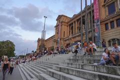 The stairs at National Palace - Palau Nacional in Barcelona Placa de Espanya Kuvituskuvat