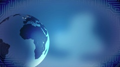 Growing social network across the world, Earth globe spinning on blue background Arkistovideo