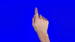 Touch Screen Finger Gestures chroma key Stock Footage